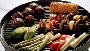 Grilled Skewers & Meatballs