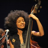 Musician Esperanza Spalding performs in concert  at the Broad Stage on October 7, 2010 in Santa Monica, California.
